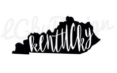Kentucky Decal by LGbyDesign on Etsy https://www.etsy.com/listing/245009525/kentucky-decal