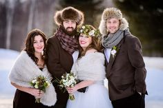 With snowshoe serving platters and a first dance on ice, this wedding collective created the ultimate Canadian celebration.