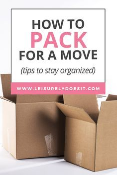 Get great tips for how to pack for a move to a new home, including moving checklists and the best way to pack boxes. These simple tips will make life so much easier when you're moving.
