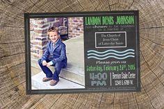 Chalkboard Baptism Invitation  Boy | LDS Baptism | 8 year old Baptism | Custom Baptism Invite  | Mormon | LDS Church