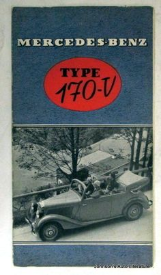 Mercedes Benz 1937 Type 170 V Sales Brochure