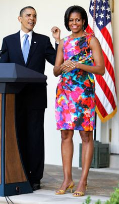 The first lady is 50 and fabulous! From an emerald green Marchesa gown to a sleek, buttoned-up Burberry coat, see Michelle Obama's best looks through the years. Michelle Obama Fashion, Michelle And Barack Obama, Marchesa Gowns, Women Lawyer, Vintage Black Glamour, Burberry Coat, 50 And Fabulous, American, Lady