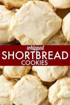 Whipped Shortbread Cookies - These delightful holiday cookies will melt in your mouth. They are light, buttery and SO easy to make. These delightful holiday cookies will melt in your mouth. They are light, buttery and SO easy to make. Whipped Shortbread Cookies, Fudge Cookies, Shortbread Recipes, Best Shortbread Cookie Recipe, Lace Cookies Recipe, Cheap Clean Eating, Clean Eating Snacks, Holiday Baking, Snacks