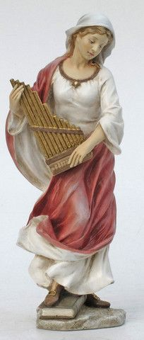 Saint Cecilia Statue in Hand painted full color. Saint Cecilia is the Patron Saint Of Music and the Blind. Memorial Day is November 22 Veronese Collection - hand painted with great attention to every detail. Made of Resin Measures at Catholic Gifts, Religious Gifts, Religious Art, Religious Education, Santa Cecilia, Patron Saint Of Music, Italian Statues, Church Music, All Saints Day