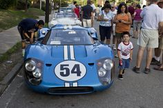 Vintage cars line up at the Pittsburgh Vintage Grand Prix car show in Shadyside