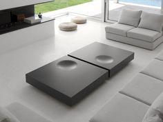 Mesa de centro baixa lacada retangular PLAT by Kendo Mobiliario | design Estudi Arola