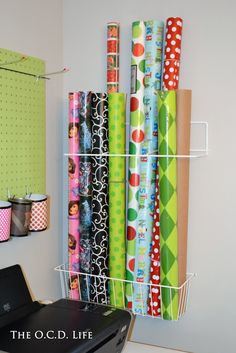 Organize wrapping paper! http://www.containerstore.com/shop/elfaSale/components/elfaDrawersAccessories?productId=10022351
