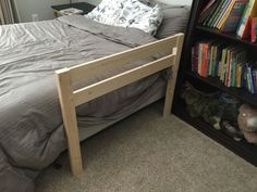 30 Excellent Photo of Toddler Diy Bed . Toddler Diy Bed Diy Toddler Bed Rail Free Plans Built For Under 15 Farmhouse Toddler Beds, Diy Childrens Beds, Diy Toddler Bed, Bed Rails For Toddlers, Diy Bett, Bed Bumpers, Woodworking Bed, Woodworking Beginner, Woodworking Projects