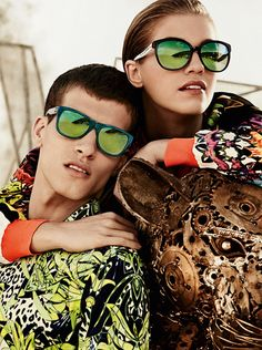 Mirrored shades from Just Cavalli SS14