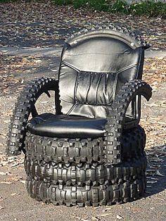 Silla #trono hecho con llantas viejas #reusa #reduce #recicla