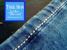 Trick Hem Video Tutorial. This super easy hem keeps the original hem intact so you can't even tell they have been uttered.
