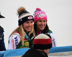 Mikaela and Wendy Mikaela Shiffrin, Woman Crush, Skiing, Captain Hat, Crushes, Beanie, Queen, Fashion, Ski