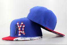 bf34caca41b Casquette NY New York Yankees MLB Snapback Drapeau Bleu Rouge Casquette New  Era Pas Cher