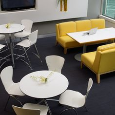 I like the two different styles of work/eating areas