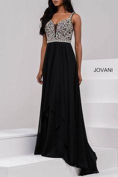 Ivory Embellished Chiffon Prom Dress 48813