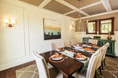 Dine in style with detailed wall and ceiling trim to make the dining room a standout.