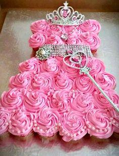 Princess Themed Cupcake Cake