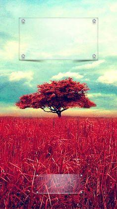 Lockscreens Art Creative Sky Clouds Tree Nature Red Blue HD IPhone 6 Lock Screen