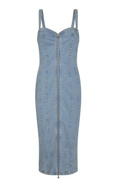 Kayla Fitted Denim Dress by ROTATE for Preorder on Moda Operandi