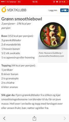 Grønn smoothiebowl Smoothies, Smoothie