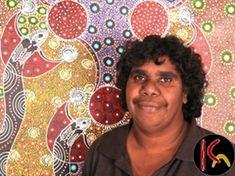Colleen Wallace Nungari ,Aboriginal Artist from Santa Teresa, Central Australia region of Australia