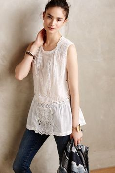 Blanche Peplum Blouse - anthropologie.com