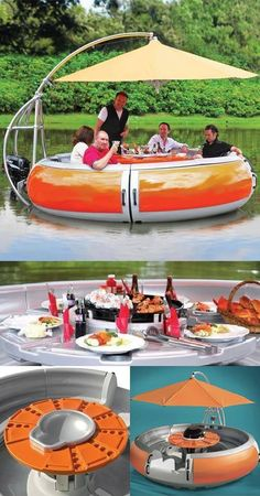 BBQ floatie For the lake house ; Lake Toys, Cool Pool Floats, Cool Inventions, Lake Life, Outdoor Fun, Outdoor Decor, Summer Fun, Swimming Pools, Cool Things To Buy