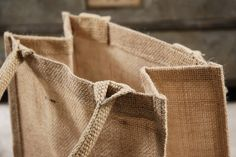 Welcome Bags for Out of Town Guests  Natural Burlap Jute 11x9 Tote Bags with Handles (6 bags) $18 for 6 bags