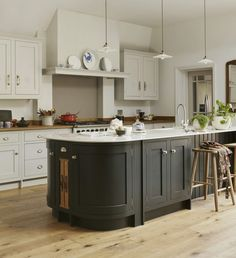Available in a range of different colours and personalisation options, our Shaker Style Kitchens are designed to suit your home. Book a design consultation. Shaker Style Kitchens, Shaker Kitchen, New Kitchen, Kitchen Ideas, Conservatory Kitchen, Large Open Plan Kitchens, Timeless Kitchen, Central Kitchen, Kitchen Installation