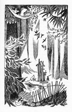 Tove Jansson, The Exploits of Moominpappa, 1952 Moomin Books, Line Sketch, Tove Jansson, Floral Illustrations, Children's Book Illustration, Art Inspo, Sketches, Drawings, Artwork