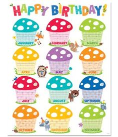 Creative Teaching Press - Woodland Friends Happy Bday Chart on sale now! Get huge savings on all of your teacher supplies at DK Classroom Outlet. Birthday Chart Classroom, Preschool Birthday, Birthday Bulletin Boards, Birthday Charts, Birthday Board, Kindergarten Classroom Decor, Classroom Themes, Birthday Display, Creative Teaching Press