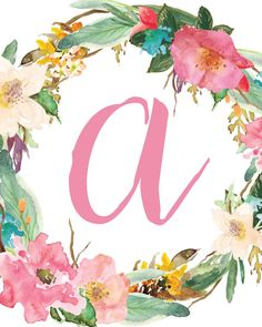 Initial Nursery Printable Letter A