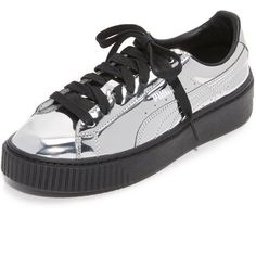 PUMA Creeper Metallic Sneakers ( 110) ❤ liked on Polyvore featuring shoes 361709f03
