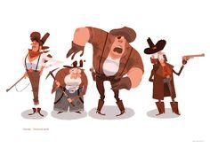 Julien Rossire Portfolio 2011 on Behance Character Concept, Character Art, Concept Art, Character Modeling, Character Design Animation, Character Design References, Cute Characters, Cartoon Characters, Cartoon Art