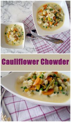 Chowder is a type of soup or stew often prepared with milk or cream and thickened with broken crackers, crushed ship biscuit, or a roux. Variations of chowder can be seafood or vegetable. Crackers …