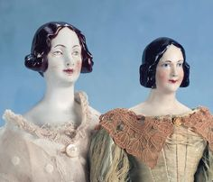The Lynda Christian Collection: 39 German Porcelain lady with Dark Brown Hair by KPM Berlin