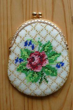 "Урок 41 - Кошелечек ""Античная роза"" | biser.info - всё о бисере и бисерном творчестве"