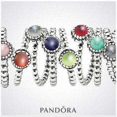 Pandora Rings - would love one in baby blue to match the colour of my prom dress idea #TopshopPromQueen