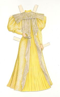 Original Antique Attractive Fashion 1896 Able Chicago Record Sunday Newspaper Paper Doll Supplement
