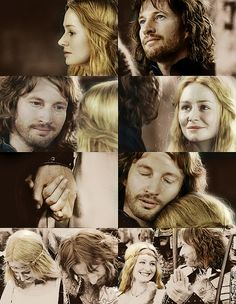 """It may be that only a few days are left ere darkness falls upon our world, and when it comes I hope to face it steadily; but it would ease my heart, if while the Sun yet shines, I could see you still."" Eowyn and Faramir! Eowyn And Faramir, Aragorn, Legolas, Fellowship Of The Ring, Lord Of The Rings, Lotr, J. R. R. Tolkien, Tolkien Books, Bon Film"