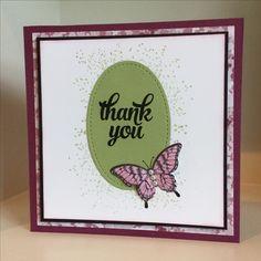 A simple Thank You card - created by Julia Jordan