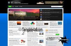 Wordpress Themes - Magazine Wordpress Template #wordpress #magazine #wordpressthemes