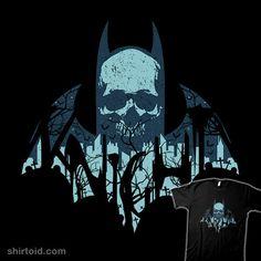 Gothic Knight from ShirtPunch Day Of The Shirt, Geometry Art, Batman Art, The Darkest, Dc Comics, Knight, Indie, Gothic, Geek Stuff