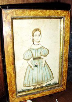 1830 style portrait of a little girl by Steve Shelton. (SOLD)