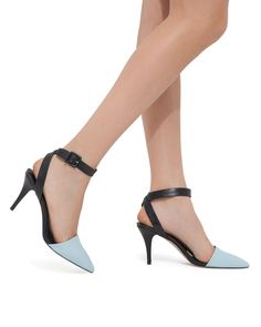 Shyann - ShoeMint. What a cool way 2 wear the 'spectator' trend. The baby blue cap toe will pop against an all black color scheme - a jumpsuit, midi skirt or a pair of cuffed wide-leg trousers. Which ever u pick, u will be spot on!