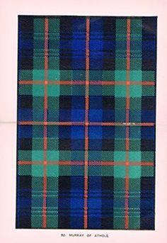 "Johnston's Scottish Tartans - ""MURRAY OF ATHOLE"" - Chromolithograph - c1899"