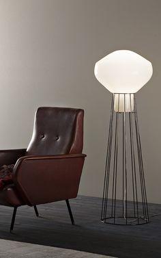 Aerostat by #Fabbian versión pie. #Design #Light #Insmat