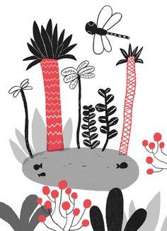 Cinta Arribas Bugs, Trees, Illustrations, Prints, Bicycle Crunches, Illustration, Wood Illustrations, Illustrators, Beetles