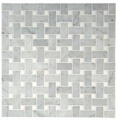 "Aqualinea 3/4"" x 1 5/8"" Basketweave Mosaic — Products | Waterworks"