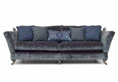 4 seater crushed velvet sofa